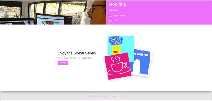 fresque virtuelle collaborative par ana artiste