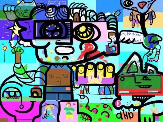La Fresque Digitale Alfa 3a par aNa artiste