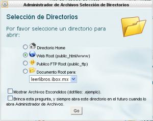selecciónDeDirectorios