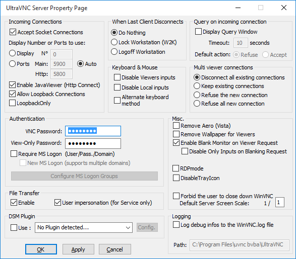 Ultravnc Installation und Konfiguration  UltraVNC- und