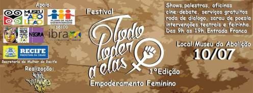 Cartaz do festival Todo Poder a Elas