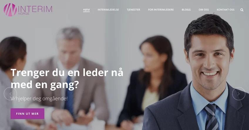 Vi gratulerer Interim Norge AS med ny nettside!