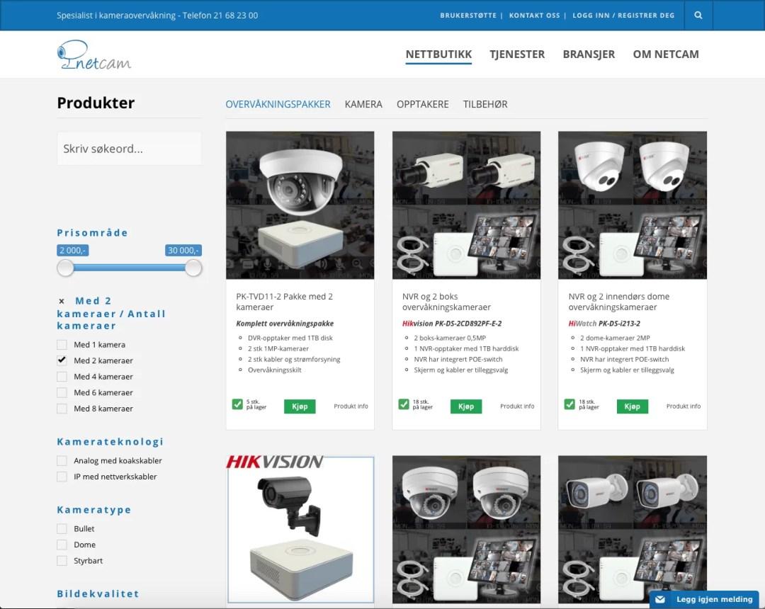 Utvikling av produktfilter for Woocommerce