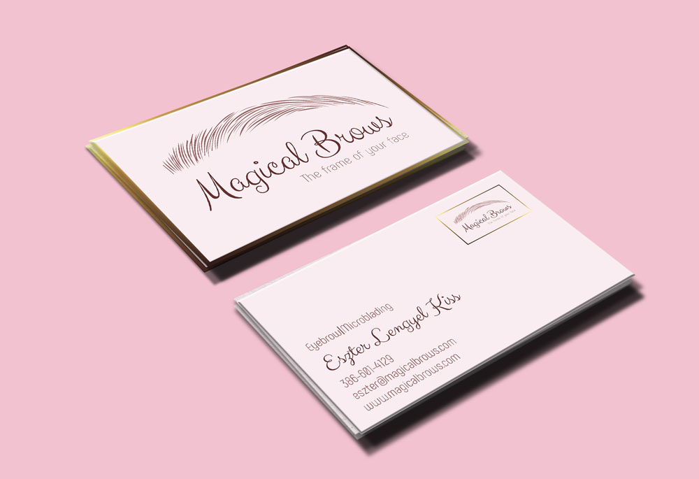 Magical Brows business card