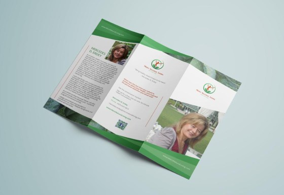 Merci Natural Living trifold brochure