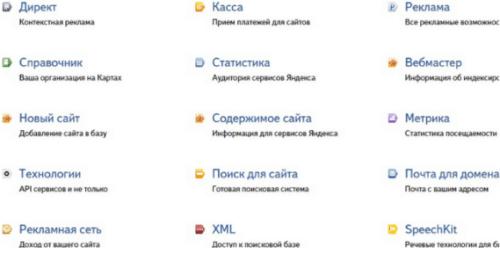 Сервисы для вебмастера