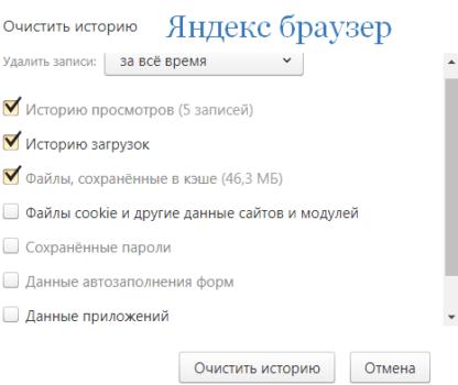 Почистить кэш браузера