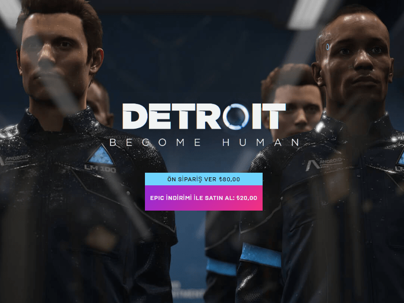Detroit: become Human - Epic Games