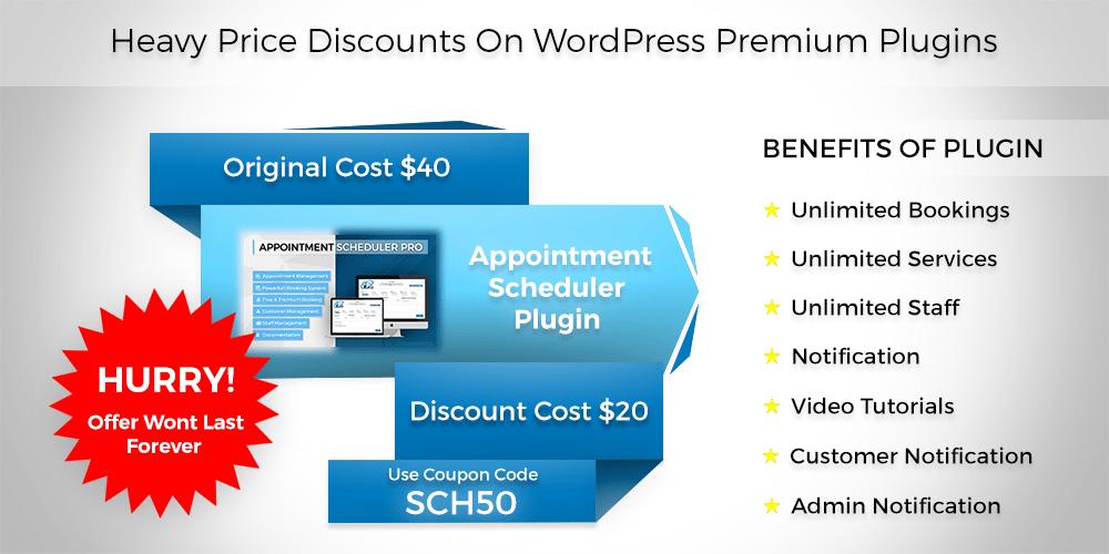 Heavy Prices Discounts On WordPress Premium Plugin