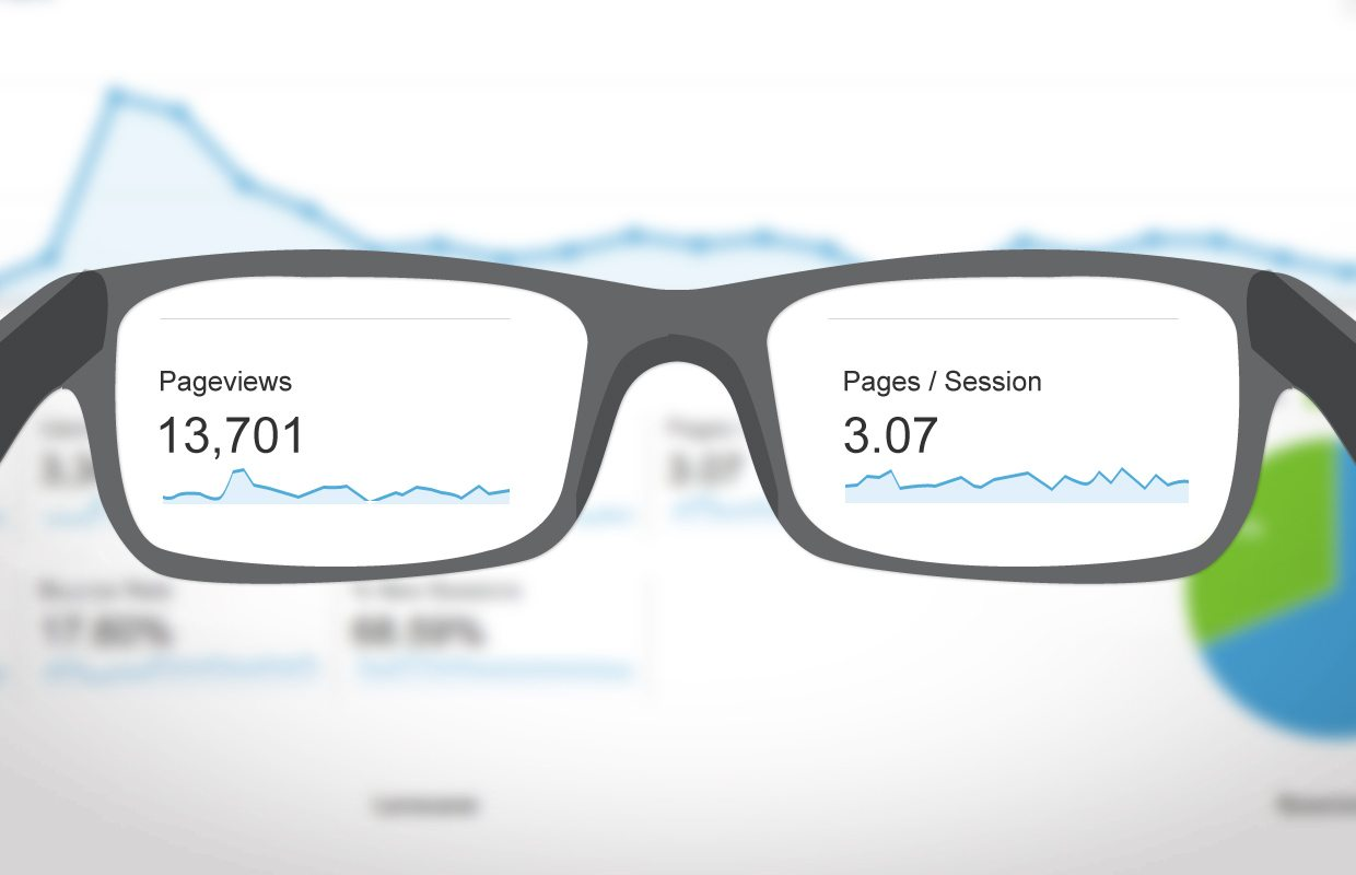 goggles showing google analytics on how to drive massive traffic on your website