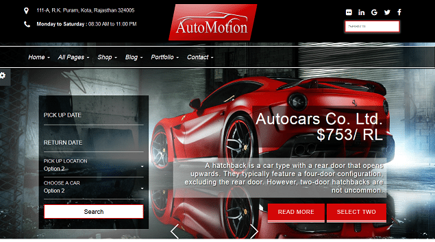 automotion premium html website templates