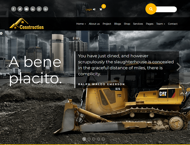 construction premium html website templates