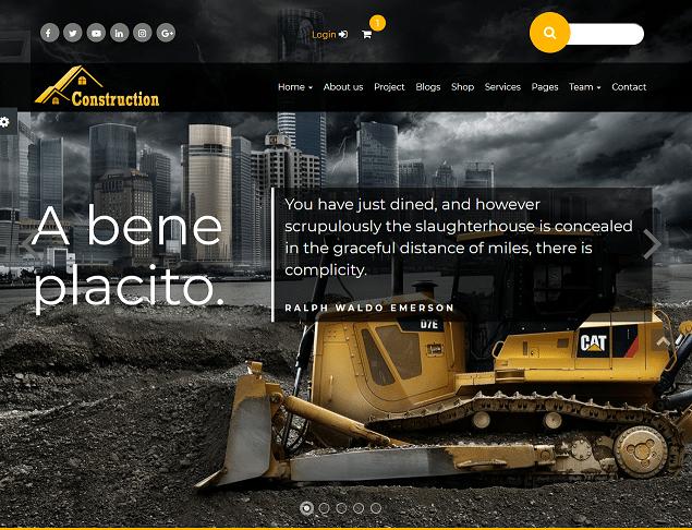 construction premium html website templates