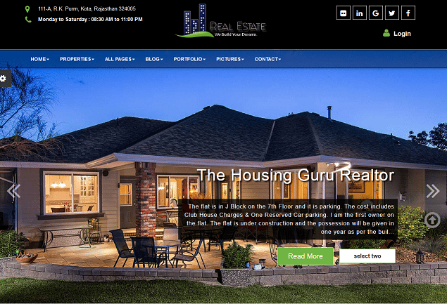 real estate premium html website templates