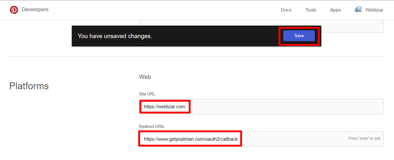 Update App Details