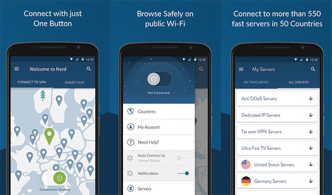 NordVPN-Android-APP-Interface