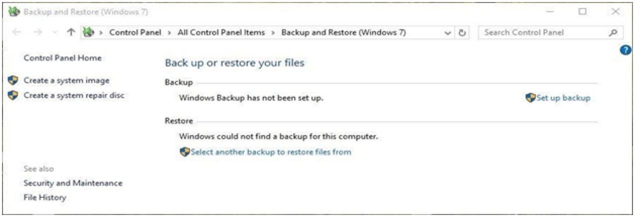 windows Backup Is Another Option
