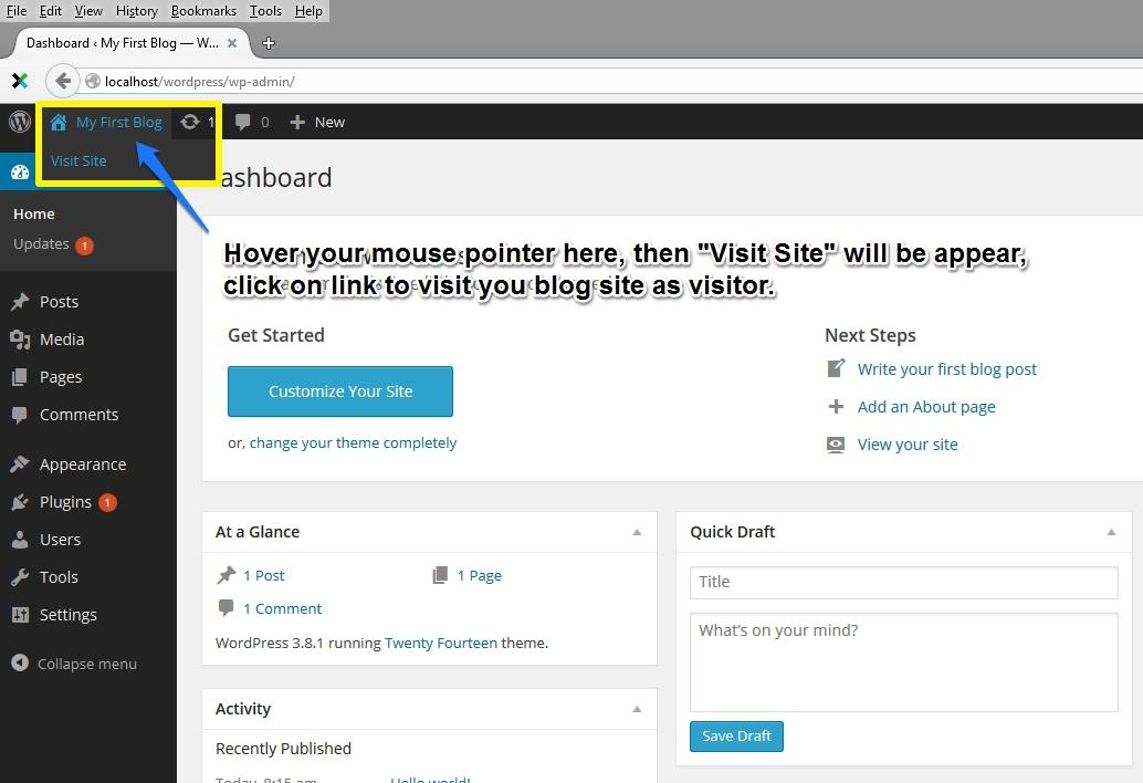 Visit WordPress Blog as Visitor