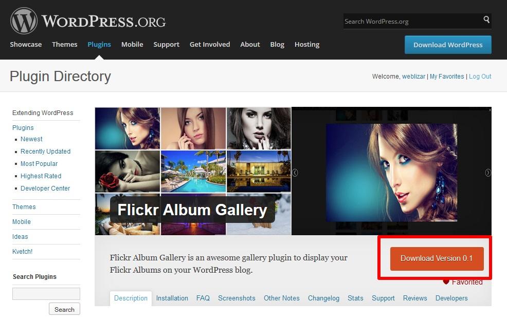 dwonload-flickr-album-gallery-free-plugin
