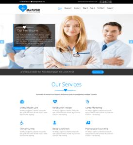 Medical Healthcare Premium WordPress Theme Weblizar