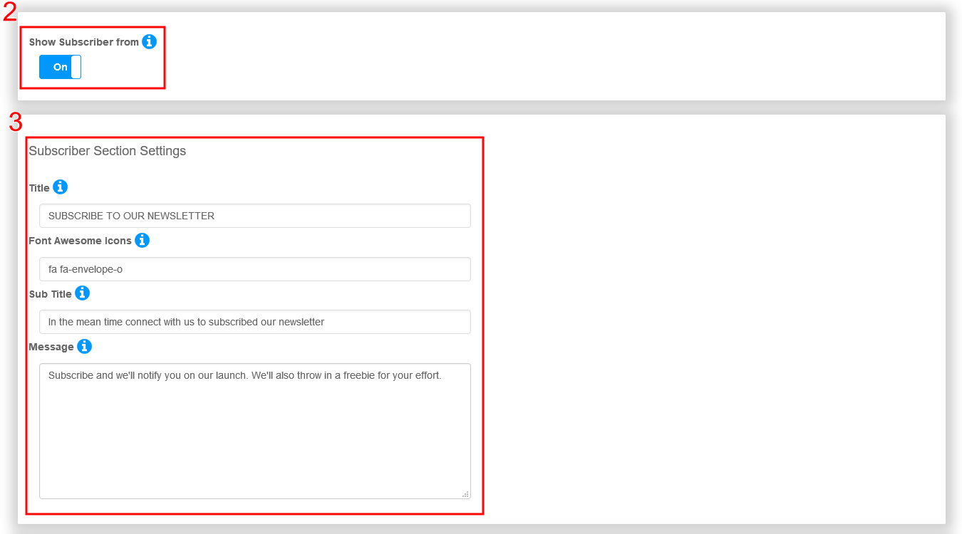 newsletter-subscriber-form-settings