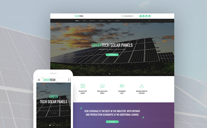 Environmental Biotechnology Website Template