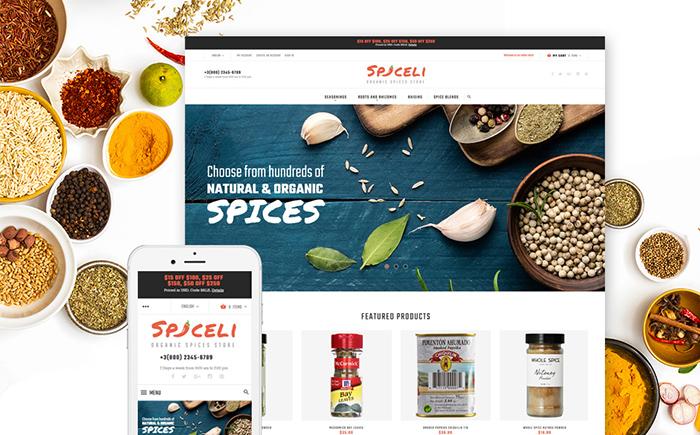 Magento spice shop theme