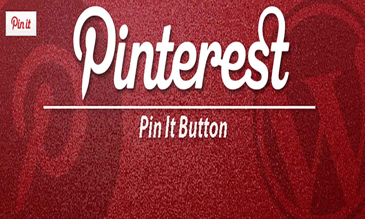 Image of pinterest pin it button on image hover and post wordpress plugin