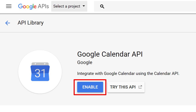 Get Google Calendar Client ID And Client Secret Key