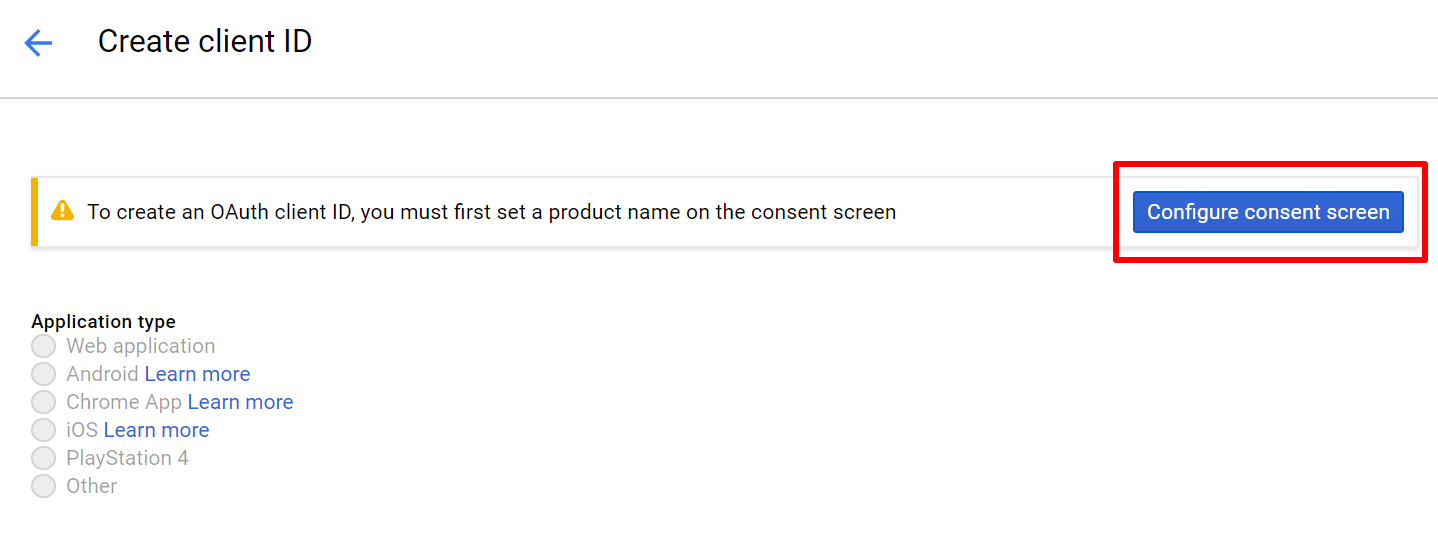 Configure Consent Screen For Google Calendar oAuth