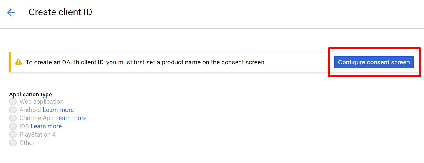 Configure Consent Screen For Google Calendar oAuth