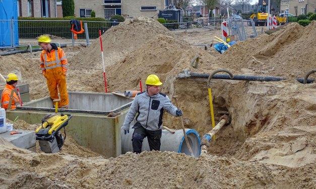 Aanleg riolering Staphorst Noord in volle gang