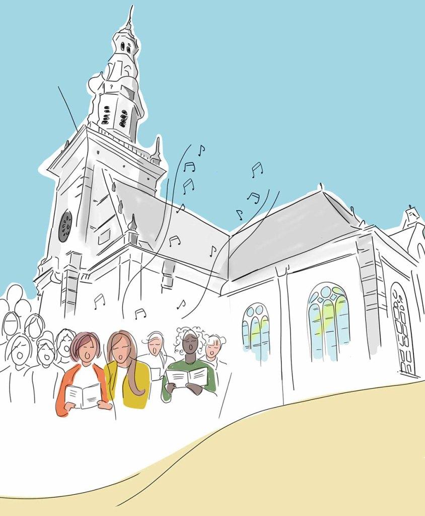 1600 vrouwen zingen in Katwijk