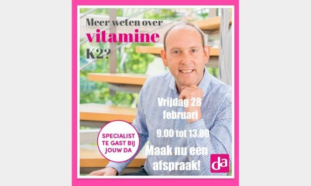 Vitamine K2 specialist Cornelis de Regt te gast bij DA Meppel
