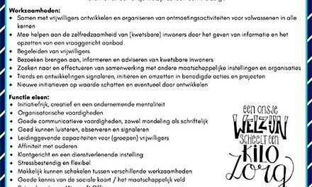 Stichting Welzijn Staphorst Vacature: Welzijnswerker activering en kwetsbaarheid