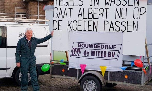 Albert Vos uit Rouveen met de VUT
