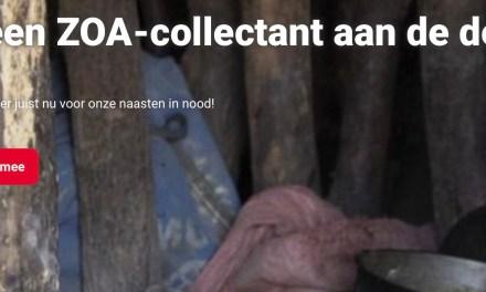Primeur: volledig online collecte voor ZOA vanwege corona