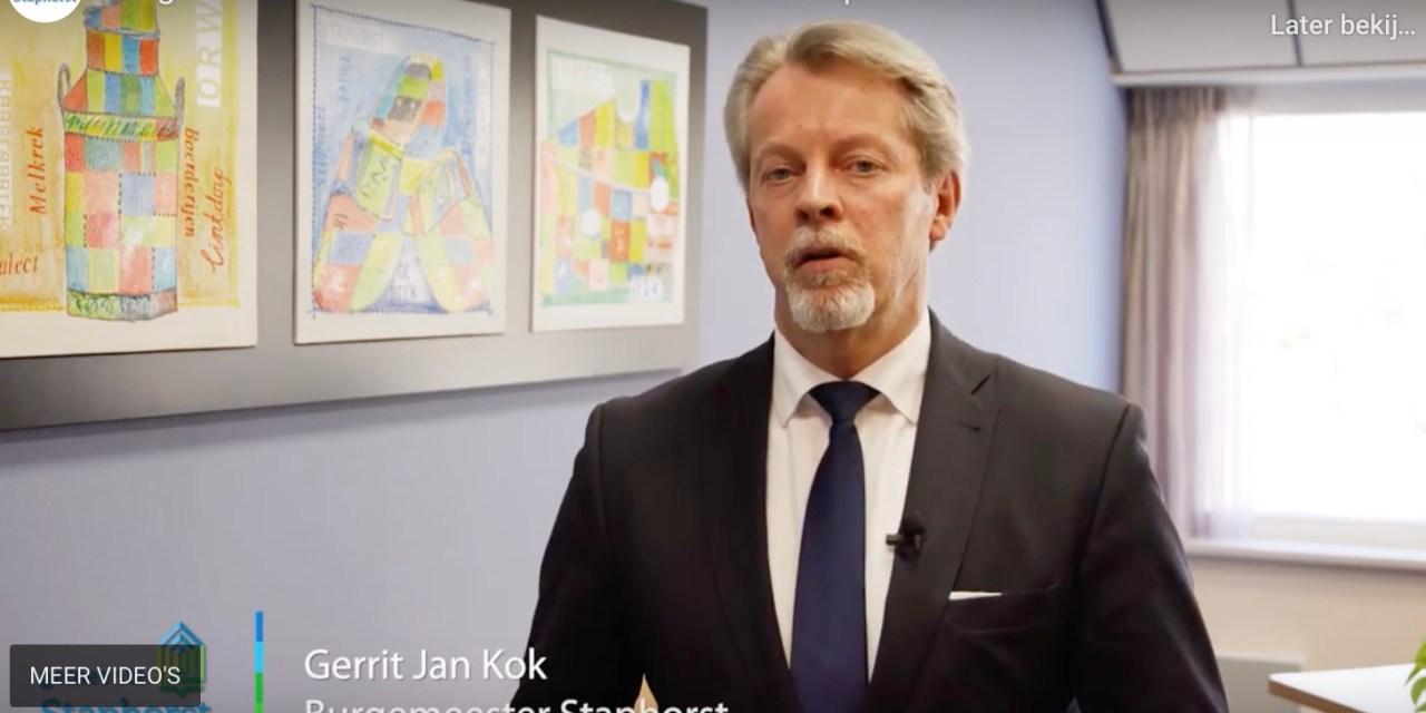 Burgemeester Gerrit Jan Kok over corona in Staphorst (video)