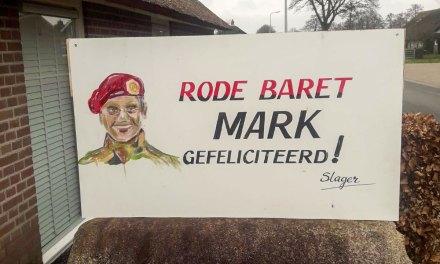 Mark vandaag met de rode baret in Staphorst