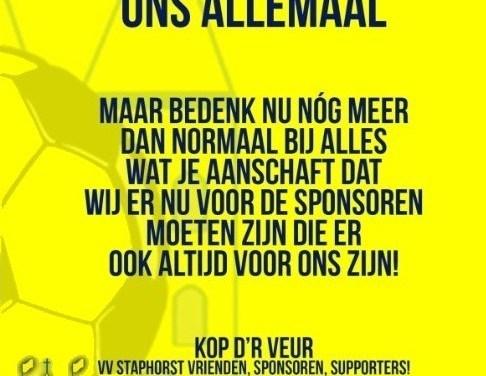 VV Staphorst steunt de middenstand met grote oproep!