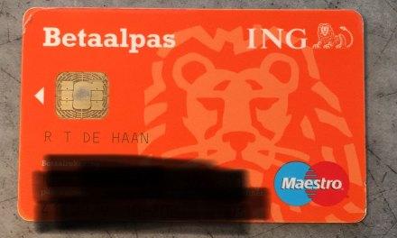 R. T. De Haan, hier is je bankpas (update)