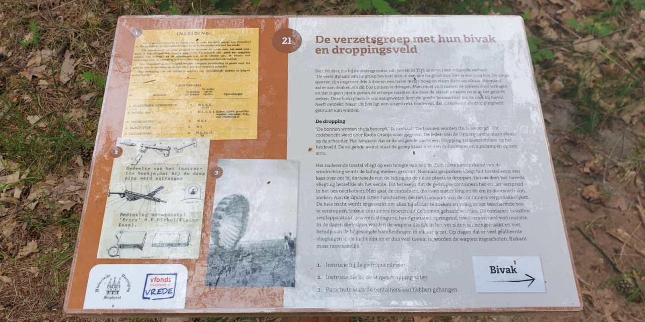 Nu te lezen in het Staatsbos: De verzetsgroep met hun bivak en droppingsveld