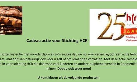 Vaderdag cadeau-actie voor stichting HCR