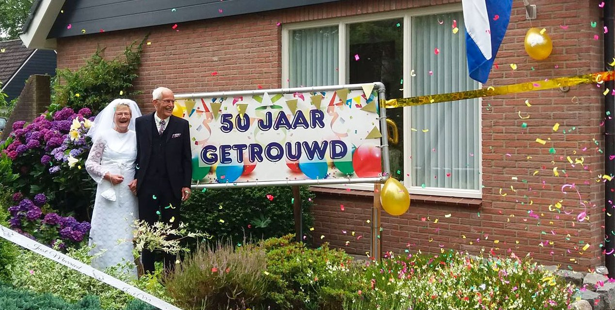 Jan en Geesje Roze 50 jaar getrouwd