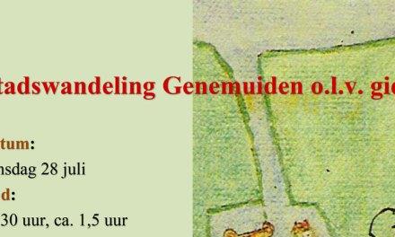 Stadswandeling Genemuiden o.l.v. gids dinsdag 28 juli