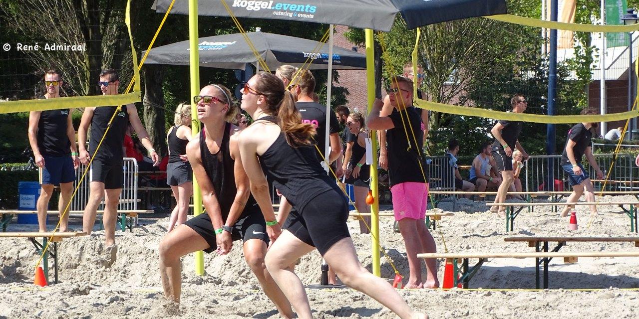 Beachvolleybal op Marktplein geslaagd