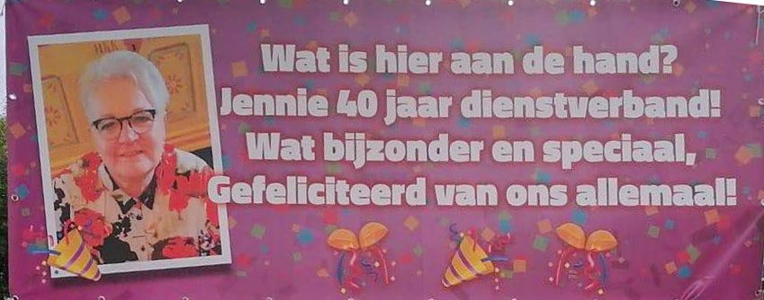 Jennie Lier-Poolman 40 jaar dienstverband GGD