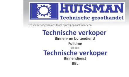 Huisman Technische groothandel zoekt: Verkoper(s)