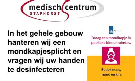 Medisch Centrum Staphorst voert mondkapjesplicht in