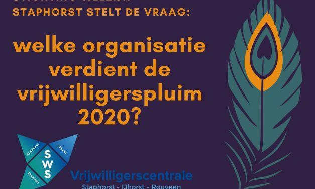 Vrijwilligerspluim Vrijwilligersorganisatie  2020